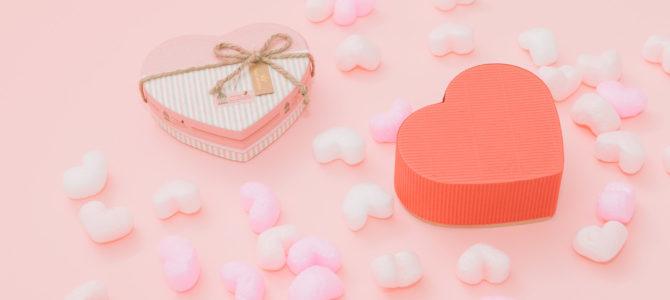 ピンクのハートbox